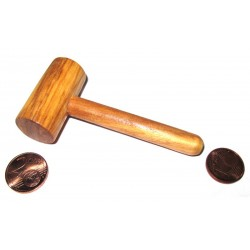 Mini Maillet en bois d'Olivier, jeu en bois