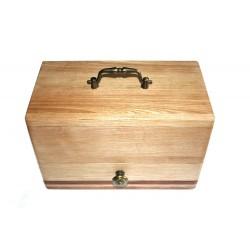 Boite à bijoux en bois de frêne (ou hêtre suivant arrivage) et bois exotique