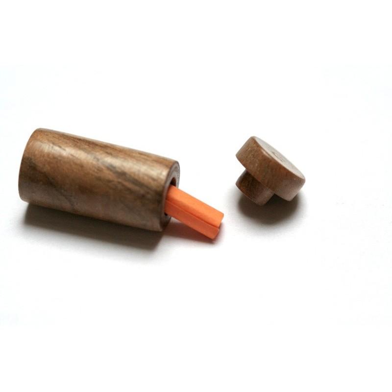 La FioleAmour en bois de Noyer pour saint-valentin ou mariage