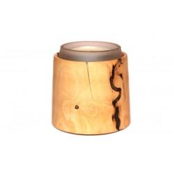 Bougeoir en bois. Ce bougeoir en buis est parfait pour une belle table