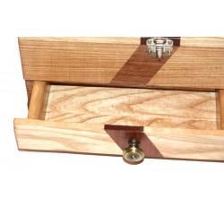 Boite à bijoux en bois massif