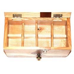 Boite à bijoux avec compartiments amovibles pour bagues ou bijoux