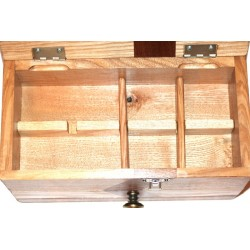 Boite à bijoux atypique avec compartiments amovibles pour bagues