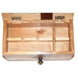 Boite à bijoux plusieurs essences de bois avec compartiments amovibles