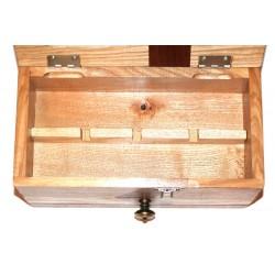 Boite à bijoux en bois avec compartiments amovibles pour bijoux