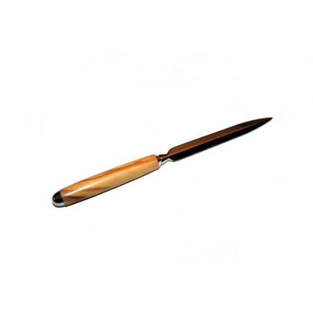 Ouvre lettre (coupe papier) en bois d'Olivier, Chromé