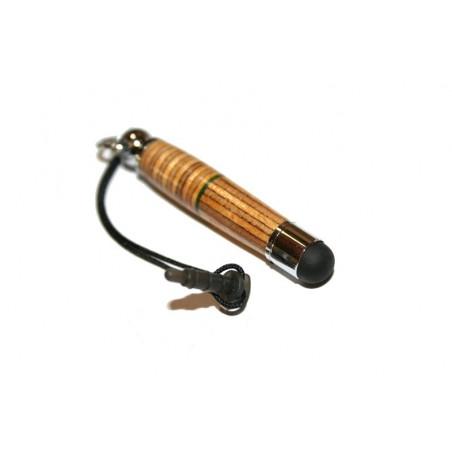 Stylet pour smartphone (Iphone, Samsung Galaxy Note...) original multicouches n°2, en bois de bouleau