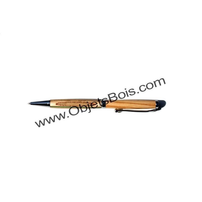 Stylo à bille original multicouches n°6, en bois de bouleau et en bois d'olivier