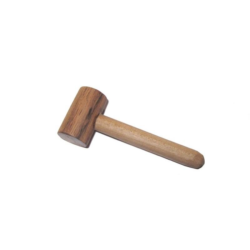 Mini Maillet en bois de Noyer, tout petit maillet en bois