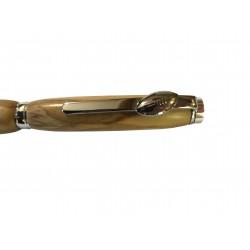 Ballon de rugby, stylo en bois d'olivier de provence